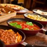 pratos servidos no buffet - fotos ilustrativas porque o serviço é a la carte