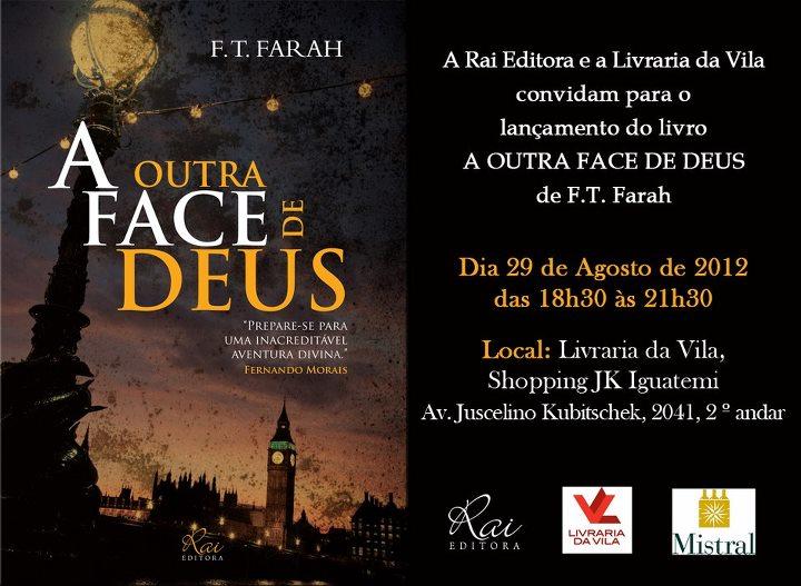 """Lançamento do livro """"A Outra Face De Deus"""""""