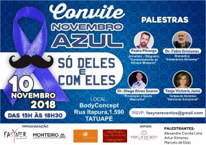 CONVITE NOVEMBRO AZUL